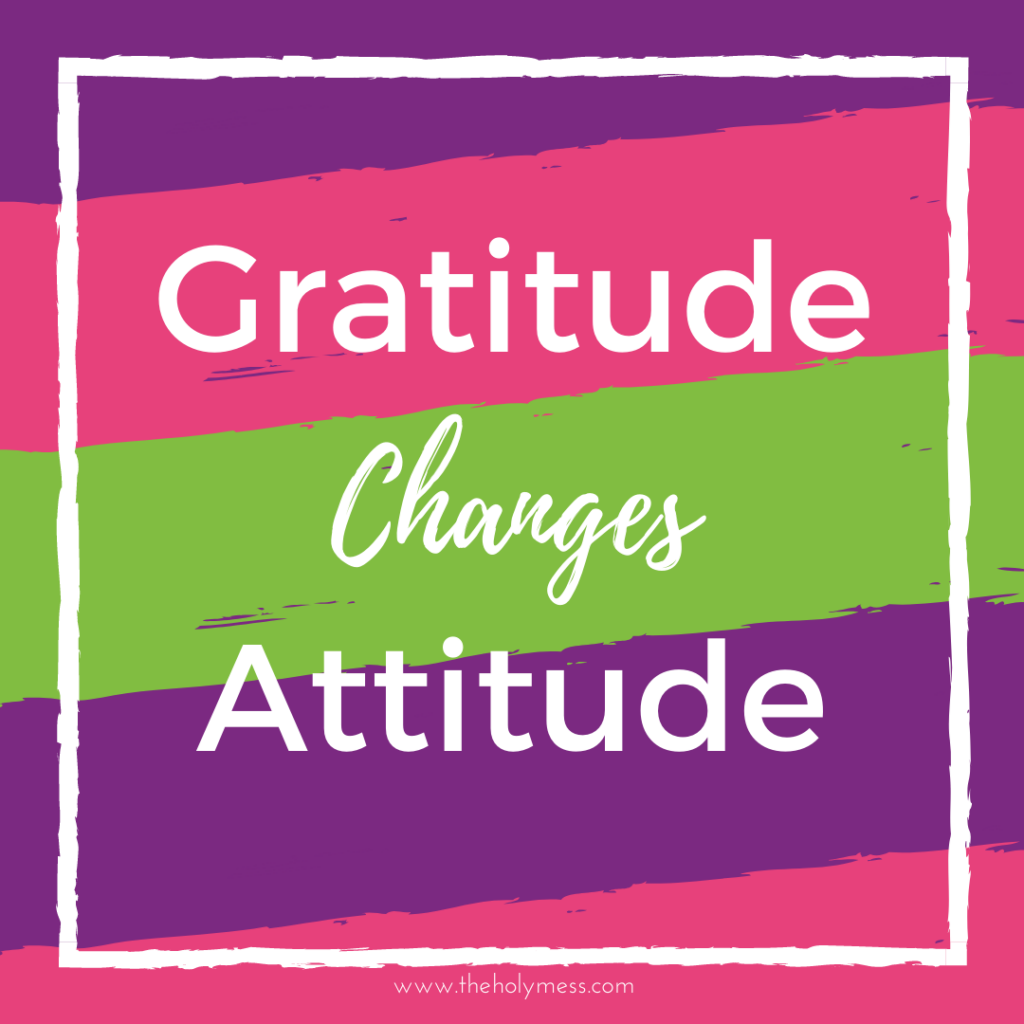 Gratitude changes attitude