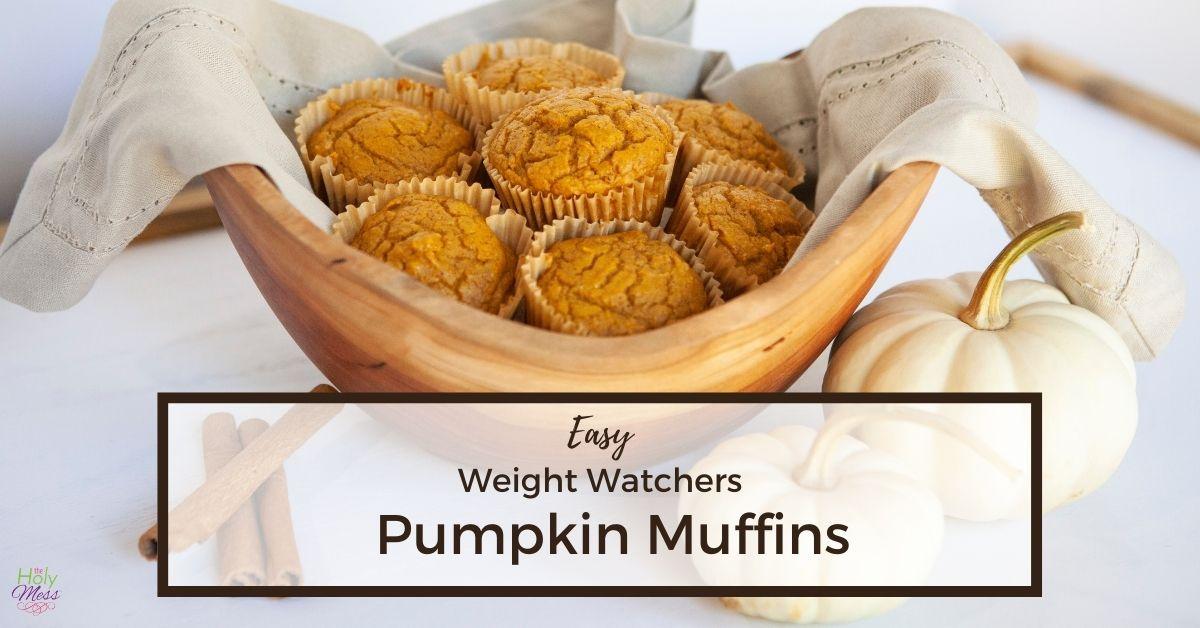 Easy WW Pumpkin Muffins in basket