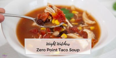 WW Easy Taco Soup in bowl with spoon