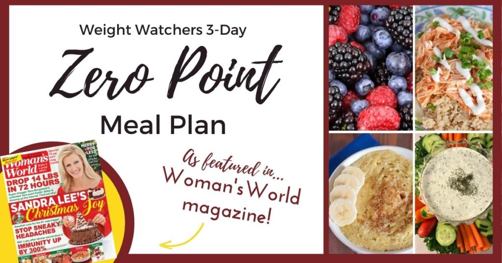 Weight Watchers Meal Plan Woman's World