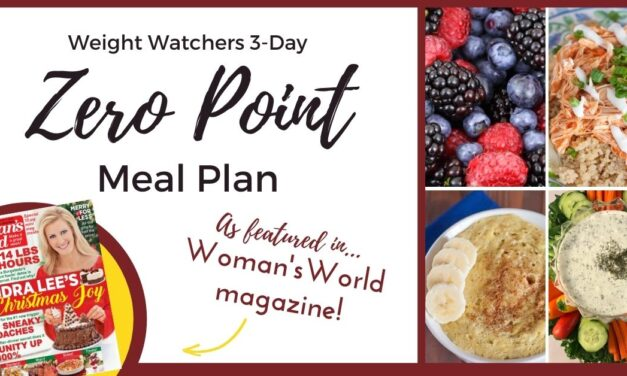Weight Watchers 3-Day Zero Point Meal Plan