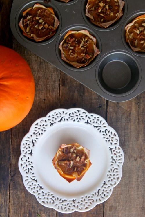 WW Pumpkin Pie tarts