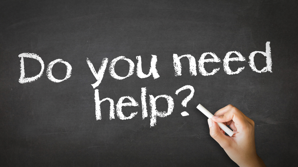 Do you need help? Chalk graphic