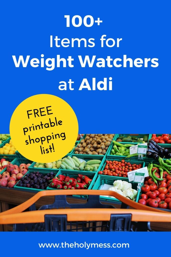 Weight Watchers Aldi Shopping Guide with fruit