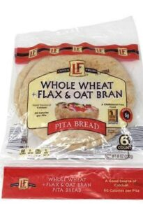 L'Oven Whole Wheat flax and oat bran pita bread low points on Weight Watchers