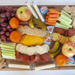 WW crackers and cheese with fruit