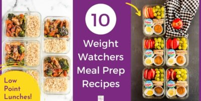 Weight Watchers Meal Prep in containers