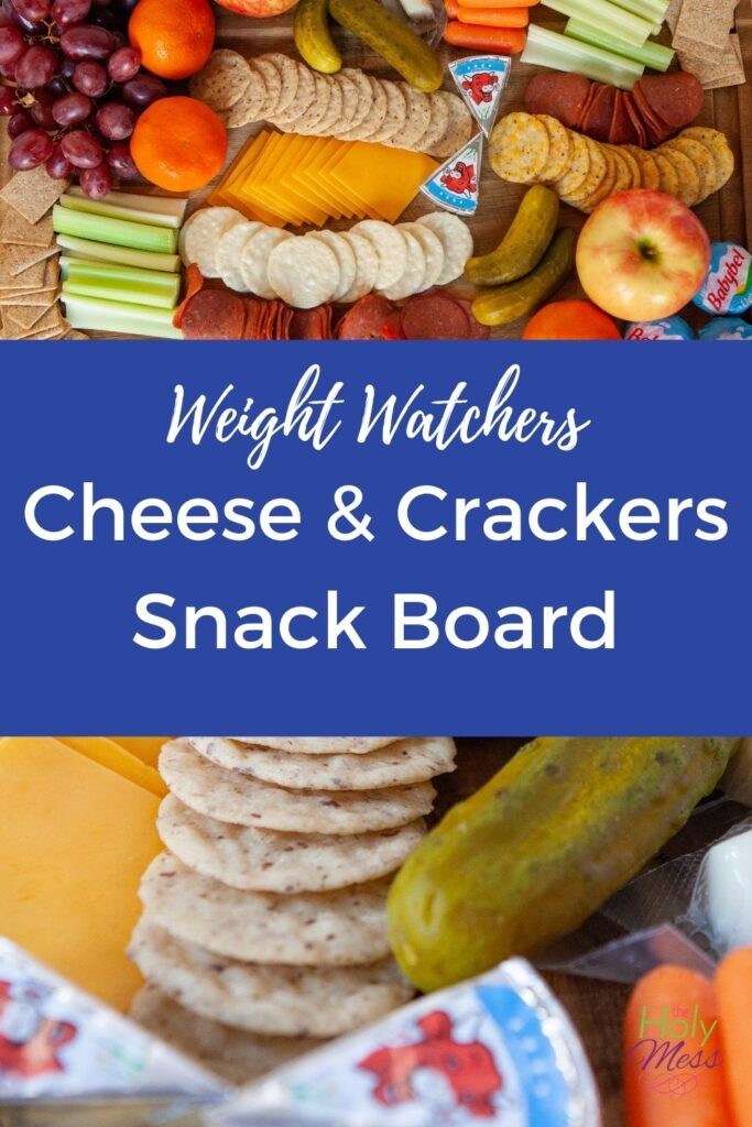 Weight Watchers Cheese and Crackers on board