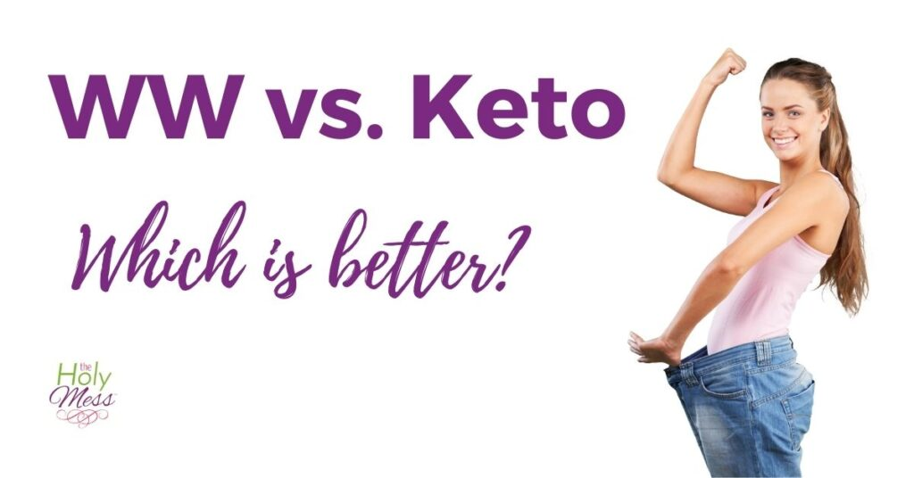 WW vs Keto woman with weight loss