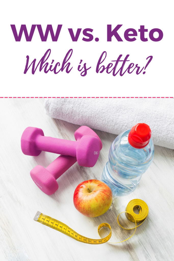 Which is better, keto vs ww with water bottle and dumbells, apple