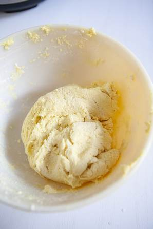 Dough for cool whip cookies in bowl