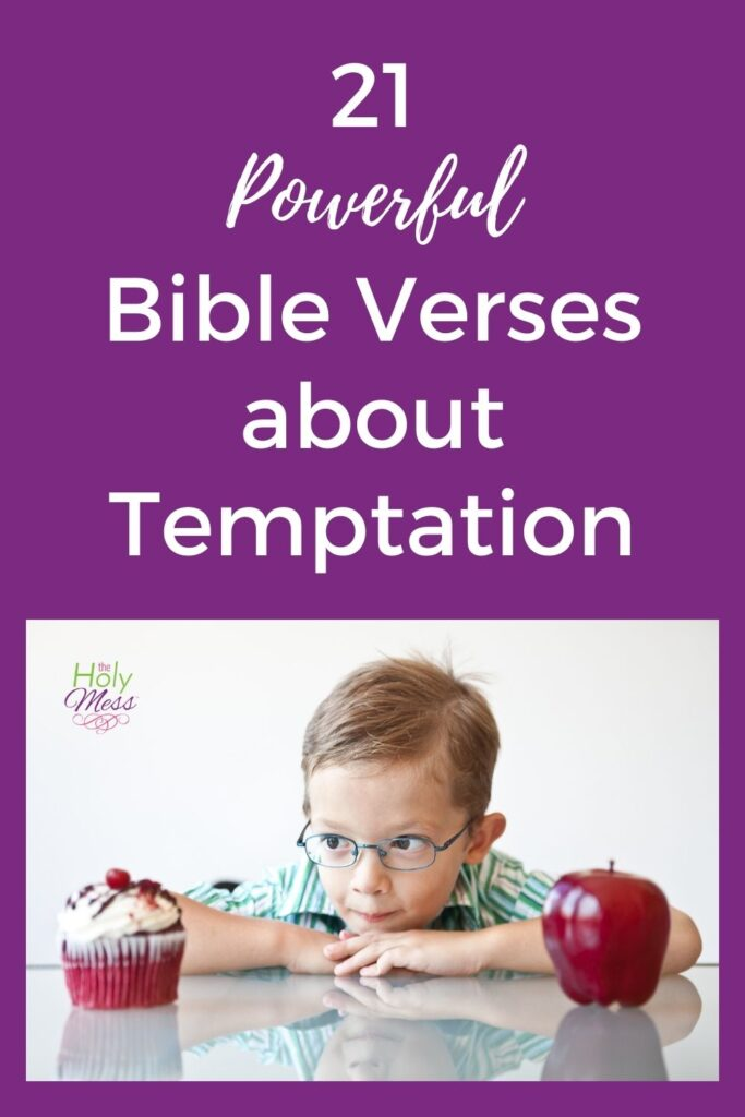 child tempted by apple and cupcake for Bible verses about temptation