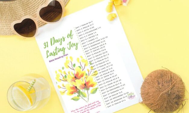 31 Bible Verses about Joy Printable