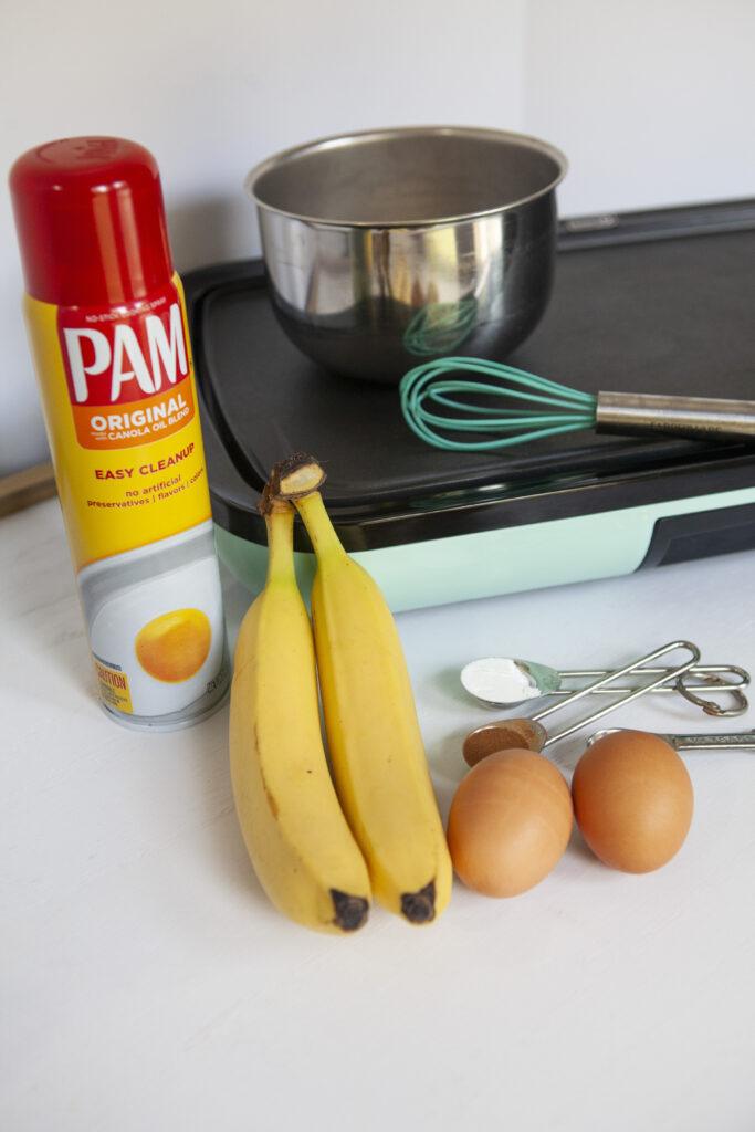 Ingredients for WW Banana Pancakes zero points