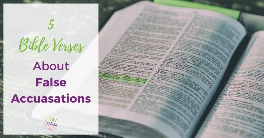 Bible Verses for Wrongful Accusations