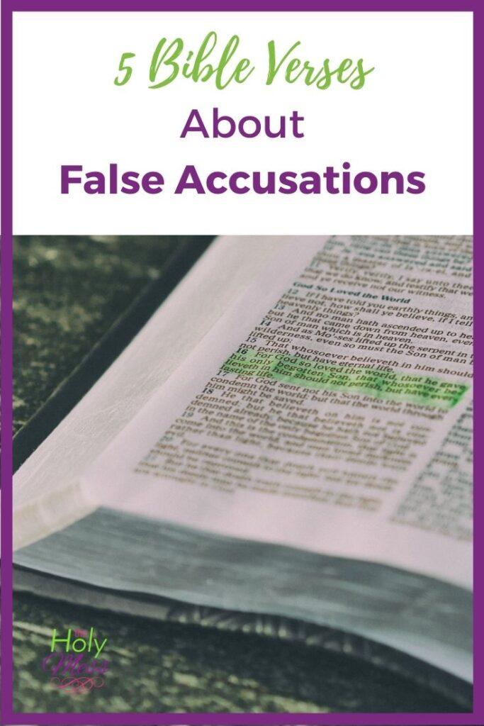 Bible Verses about false accusations
