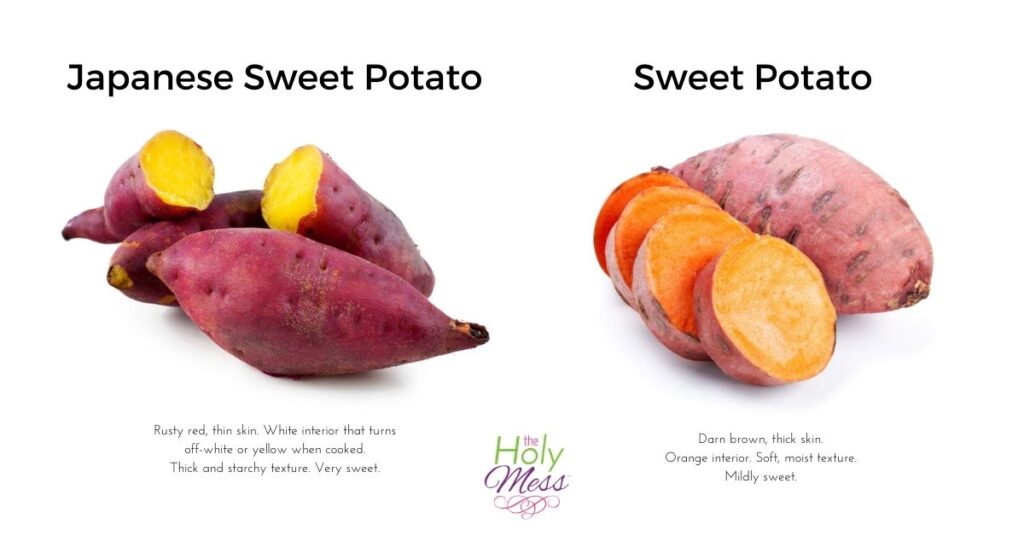 Photo of Japanese sweet potato vs sweet potato or yam