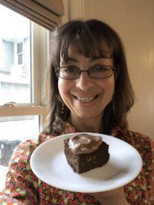 Sara with Fuhrman chocolate cake