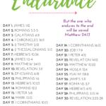 Endurance Bible reading plan