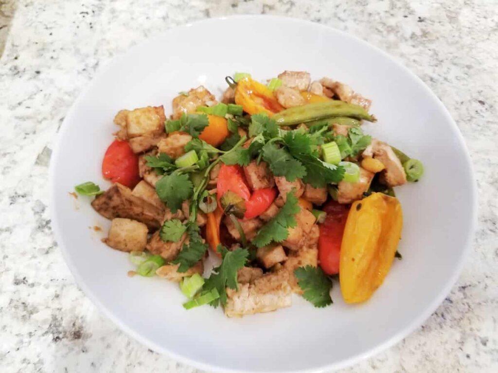 Sheet pan veggie tofu
