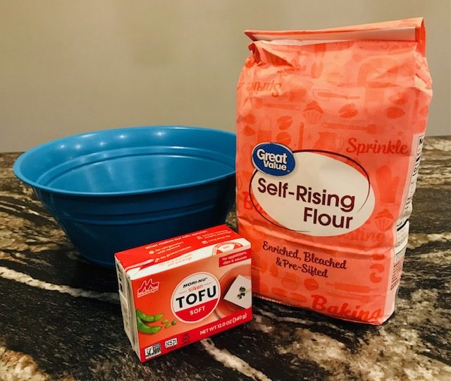ingredients for 2 ingredient dough without dairy