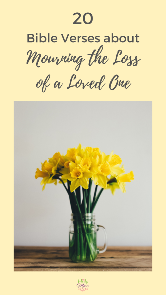 Bible verses about grief and loss