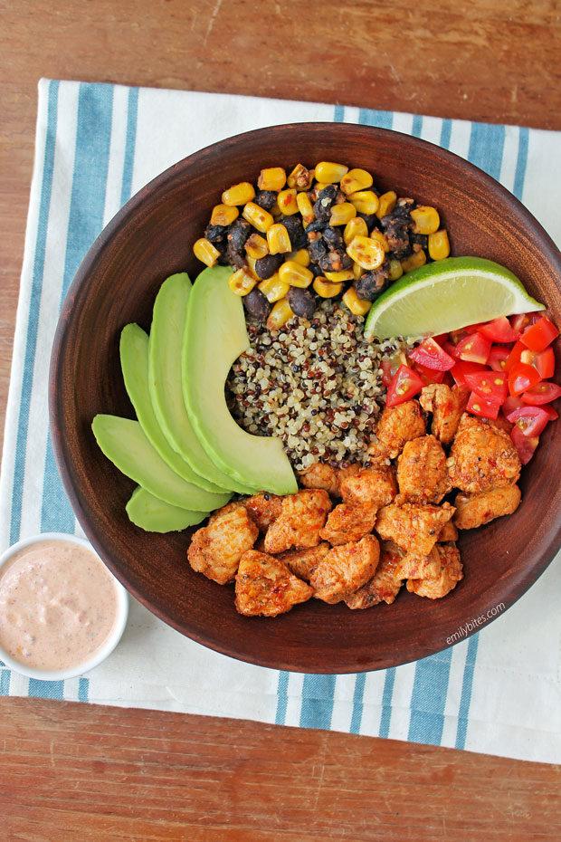 Southwest Chicken Quinoa bowls
