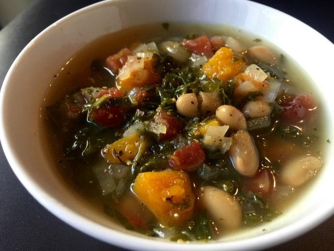 Butternut kale soup