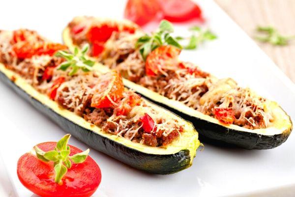 zucchini stuffed boats