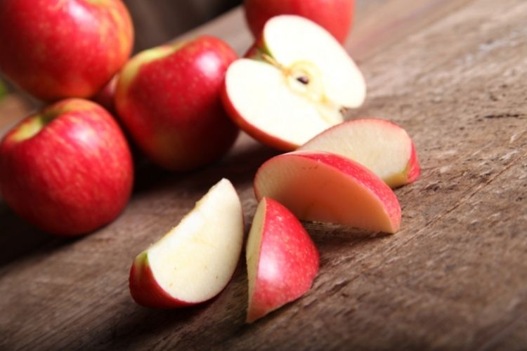 Apple slices for quick baked apples